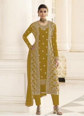 Baronial Mustard Festival Designer Pakistani Suit