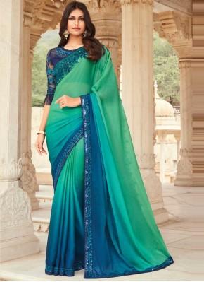 Baronial Silk Ceremonial Shaded Saree