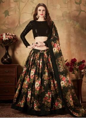 Beauteous Floral Print Ceremonial Trendy Lehenga Choli