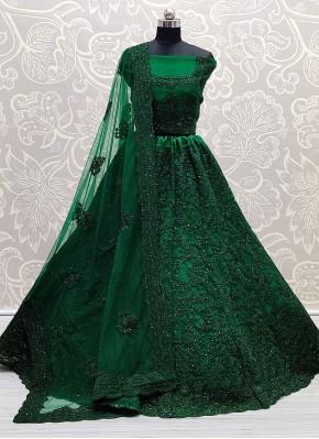 Beauteous Green Sangeet Lehenga Choli