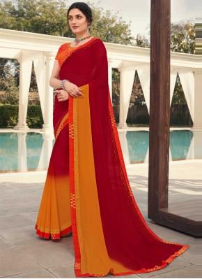 Beauteous Maroon Embroidered Classic Designer Saree