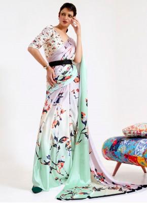 Beauteous Multi Colour Print Printed Saree