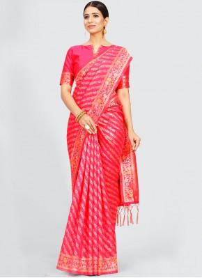 Beauteous Pink Festival Traditional Designer Saree