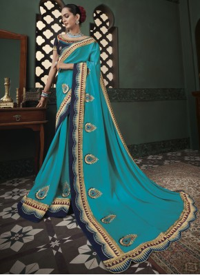 Beautiful Blue Classic Designer Saree