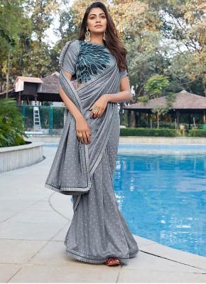 Beautiful Grey Classic Saree