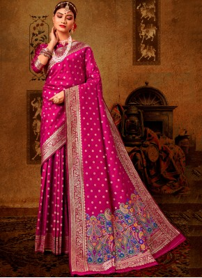Beautiful Rani Banarasi Silk Traditional Designer Saree
