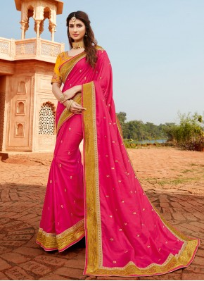 Beautiful Silk Engagement Classic Designer Saree