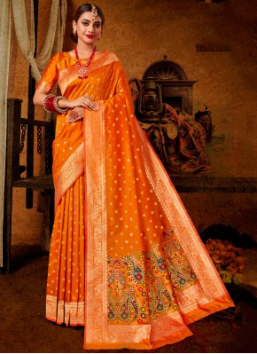Beautiful Weaving Traditional Saree