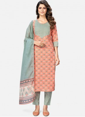 Beckoning Cotton Peach Readymade Suit