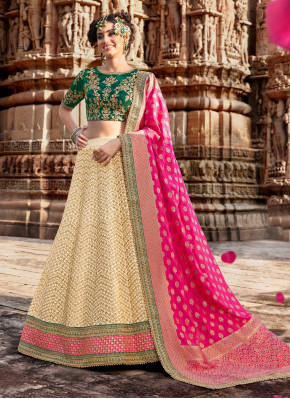 Beige & Pink wedding Lehngha choli