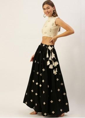 Black Embroidered Festival Trendy Lehenga Choli