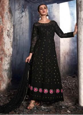 Black Georgette Embroidered Salwar Kameez
