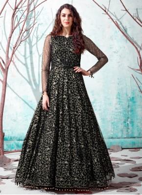 Black Net Festival Designer Gown