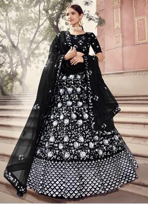 Black Net Sangeet Lehenga Choli