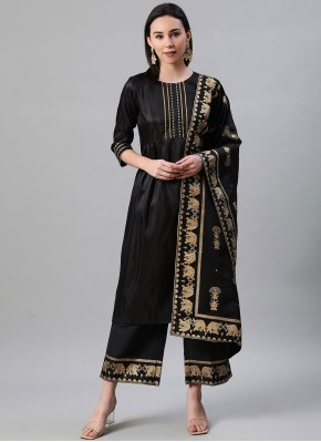 Black Print Trendy Salwar Kameez