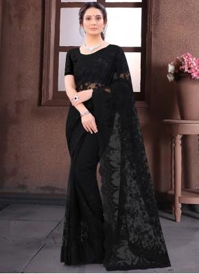 Black Resham Reception Bollywood Saree