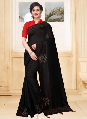 Black Silk Stone Designer Saree