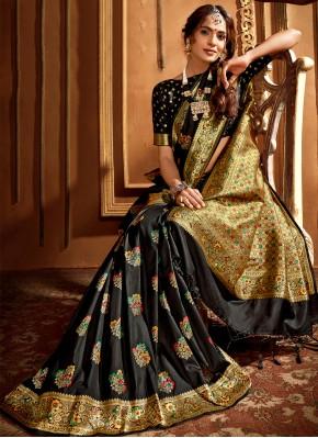 Black Silk Wedding Classic Saree
