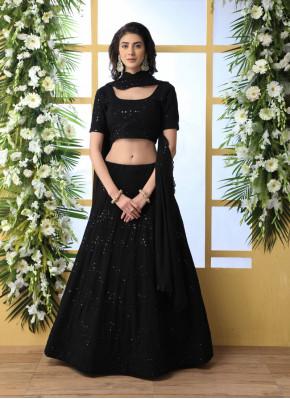 Black Thread Designer Lehenga Choli