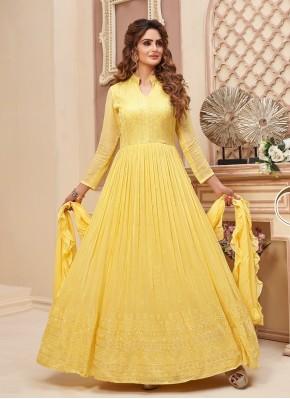 Blissful Party Wear Chiffon Anarkali Suit