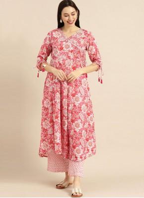 Blissful Cotton Print Pink Designer Kurti