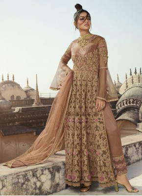 Blissful Net Sangeet Pant Style Suit