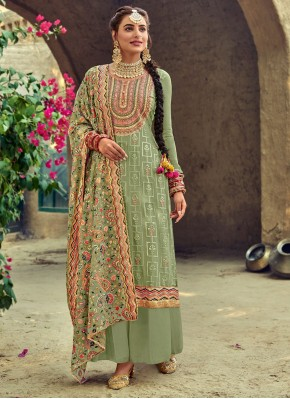 Blooming Embroidered Party Designer Salwar Suit