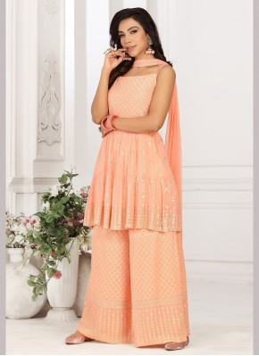 Blooming Sequins Work Designer Ready made Palazzo Dress