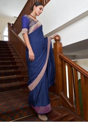 Blue Art Silk Festival Traditional Saree
