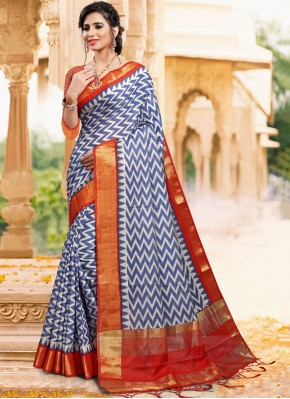 Blue Color Casual Saree
