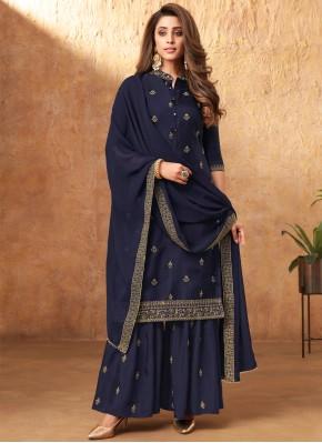 Blue Color Designer Pakistani Salwar Suit
