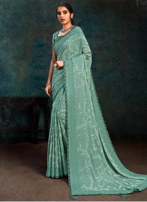 Blue Color Designer Traditional Saree
