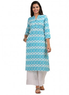 Blue Color Party Wear Kurti