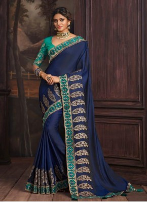 Blue Festival Silk Traditional Saree