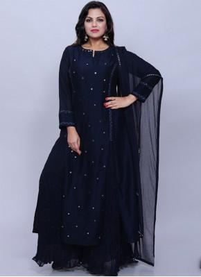 Blue Party Trendy Salwar Suit