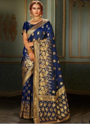 Blue Reception Contemporary Saree