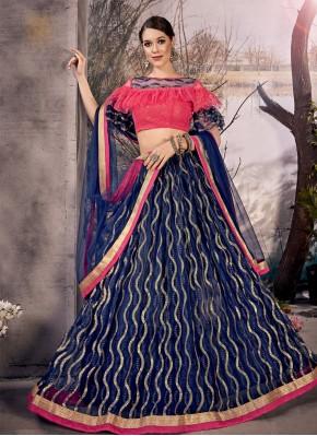 Blue Thread Designer Lehenga Choli