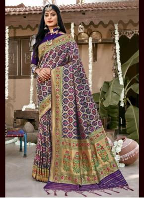 Blue Weaving Designer Saree