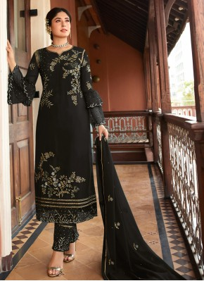 Breathtaking Embroidered Party Trendy Suit