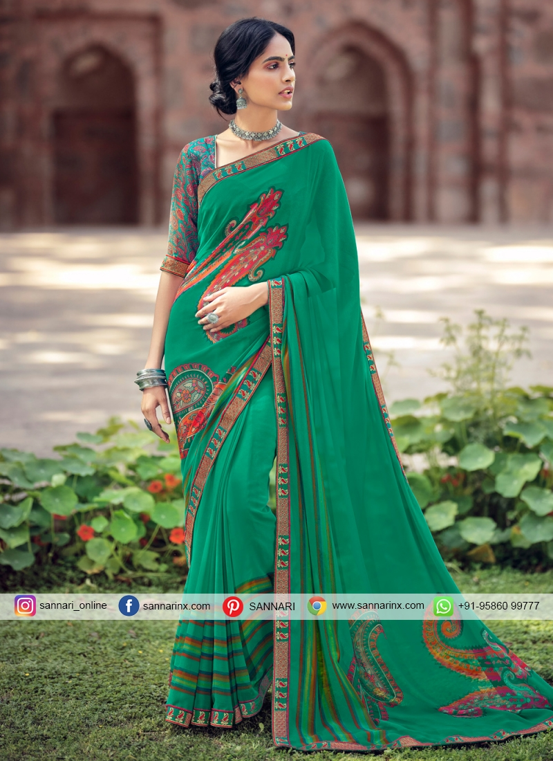 Breathtaking Printed Saree For Casual