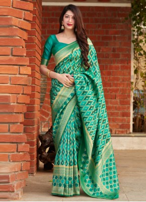 Brilliant Banarasi Silk Designer Saree
