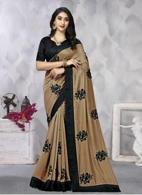 Brown Resham Designer Saree