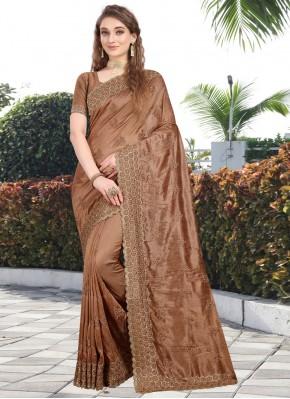 Brown Silk Bollywood Saree
