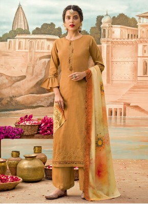Brown Silk Festival Designer Pakistani Salwar Suit