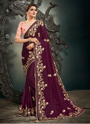 Capricious Satin Sangeet Designer Saree