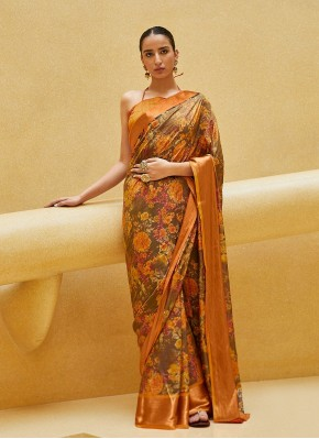 Capricious Satin Silk Trendy Saree