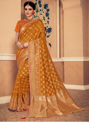 Captivating Gold Classic Saree