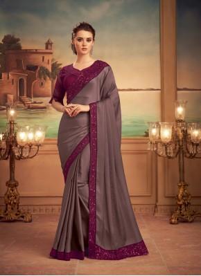 Captivating Patch Border Silk Designer Saree