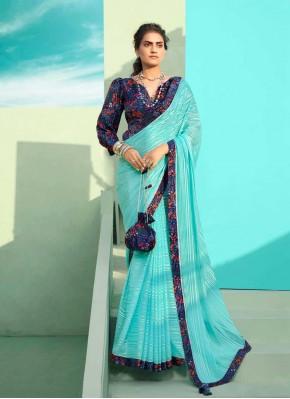 Catchy Blue Classic Designer Saree
