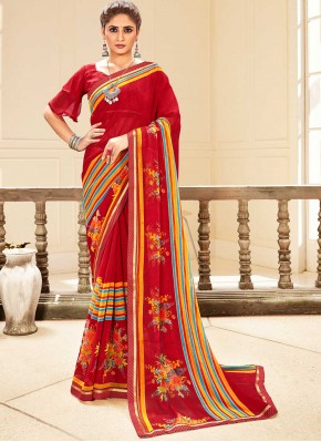 Catchy Faux Georgette Casual Traditional Saree